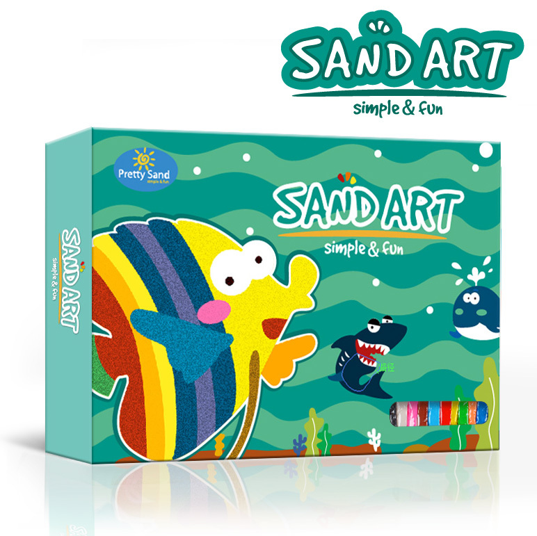 Lovely sand art painting educational toys for kids