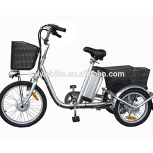 20' three wheels electric bike with EN15194 / electric cargo tricycle / three wheel electric motor bike