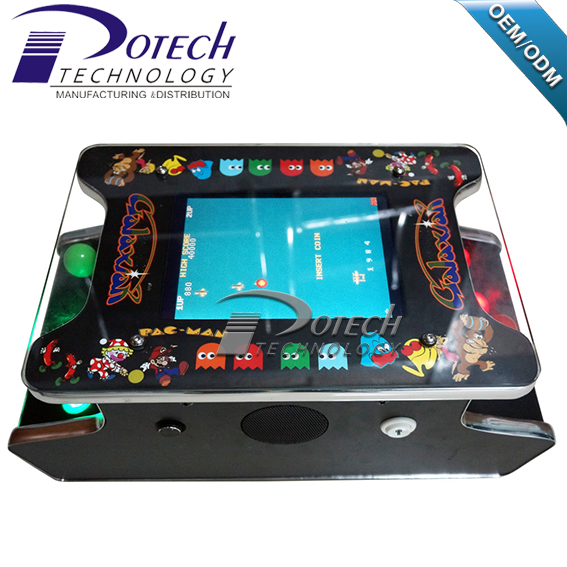 "Mini Bartop Arcade 15"" LCD Monitor 2 Side 2 player Cocktail table game machine"