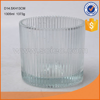 high quality machine press crystal glass candle holder wedding table centerpieces for home decoration