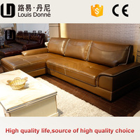 Best price european style genuine leather reclining loveseat sofa