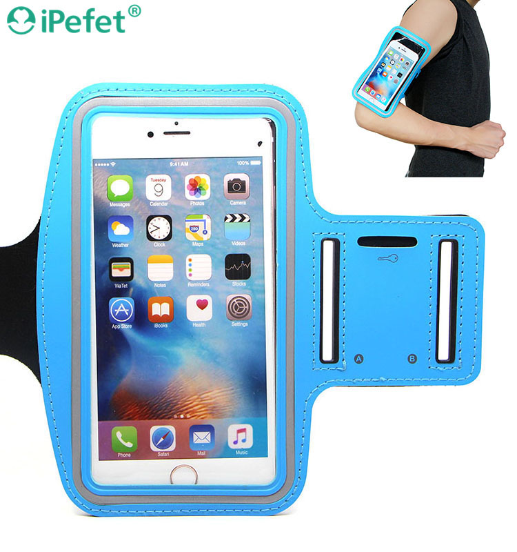 Hot sale sport mobile phone reflective armband for iPhone 6 armband for running cell phone