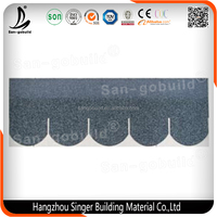 China High Quality Building Material 5-tab Asphalt Roof Shingle in Fish Scale