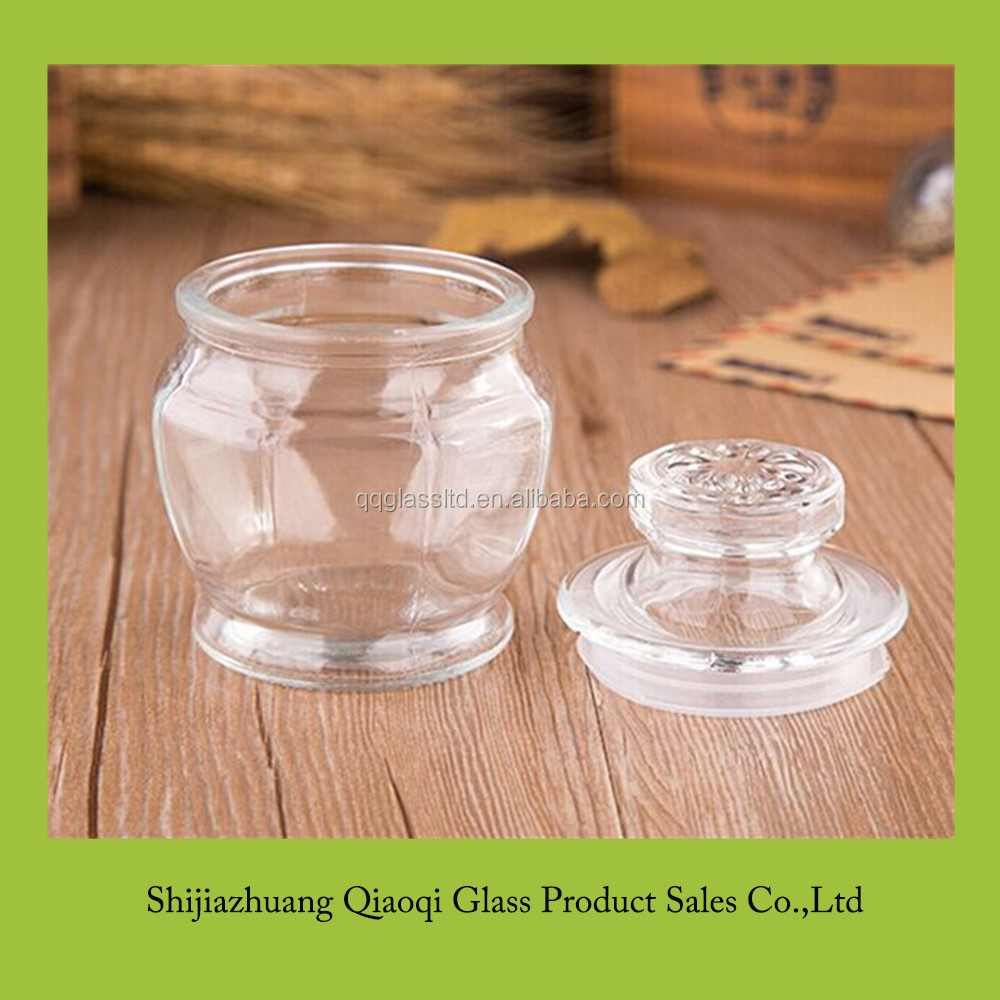 Unique eight angles shaped glass candle jars for selling