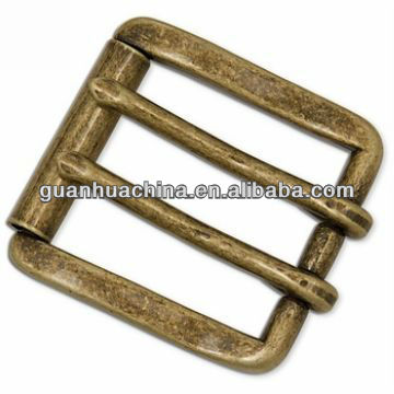 custom double pin metal buckle for garments