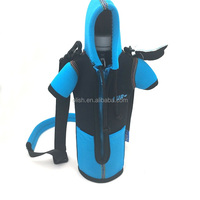 Insulated Neoprene Water Bottle Cooler Carrier Bag with Shoulder Strap