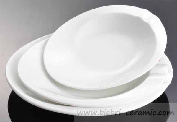 plain white color cake every day exclusive expensiave oval plate