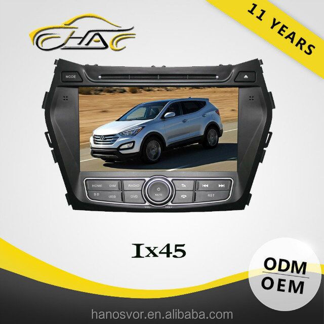 Touch Screen Car DVD For Hyundai Santafe 2014 GPS Navigation With Bluetooth USB SD Card Rear-view Camera
