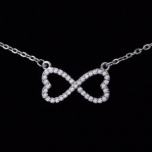 Double Heart Shape Pendants Link To Heart Style Chain Necklace 925 Sterling Silver Pendant