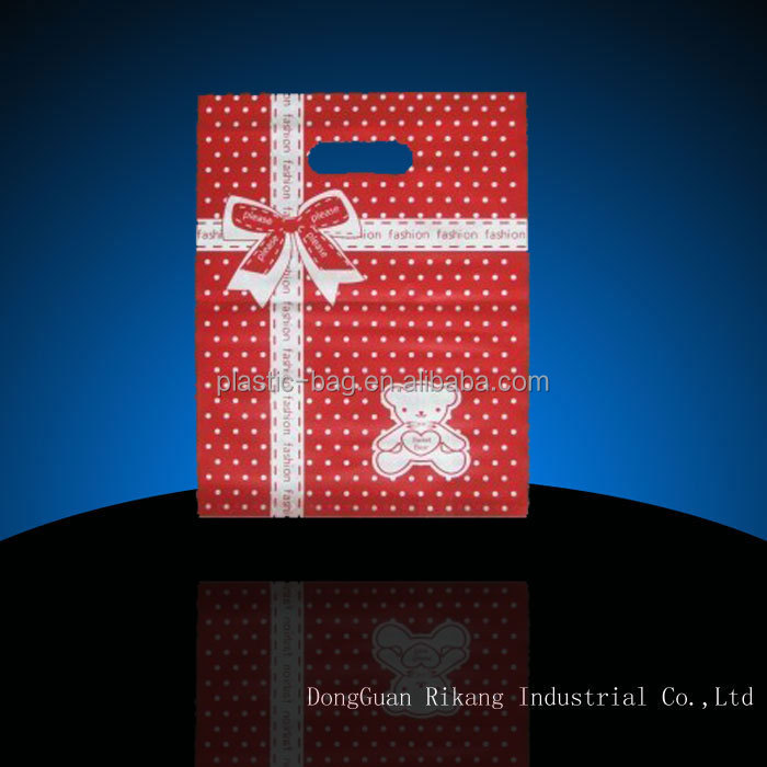 Tote bags with handle/ plastic christmas gift bags/gift wrapping plastic bags