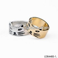 Fashion Gold Cat Girl Finger Ring Sexy Rings