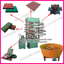 Recycled tyre rubber tile vulcanizing press/ recycling rubber floor press machine