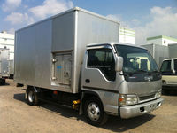Used 2004 Isuzu Elf 3 ton Van Truck w/ Refrigeration and Freezer Boxes