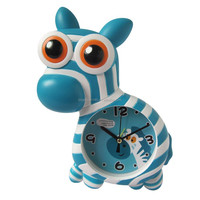 Fashion Zebra shape plastic home decorations standing clock for kids