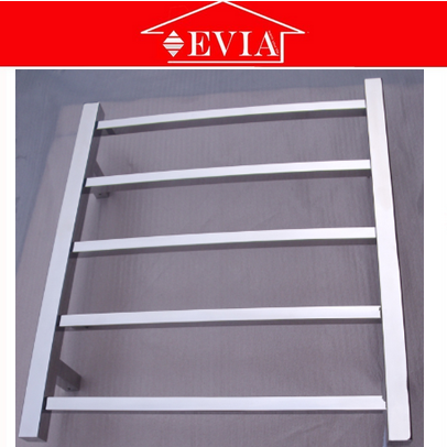 EVIA stainless steel 5 square bars electric folding towel rack, foldable towel rack, electric towel rack