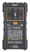Black Rotation Indicator Testing MS5900 Motor Tester Three Phrase Magnetic Field Detection
