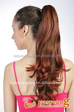 Red synthetic claw Clip-in ponytail hair pieces, wigs hair accessories