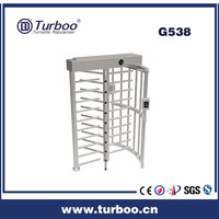 Card reader electronic security control barrier rotary user-friendly smart 304 stainless steel full height turnstile gate