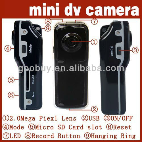 cheap mini dv camcorder, camera mini dv with multifunctional use and bracket