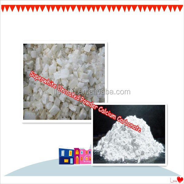 Superwhite Uncoated Powder Calcium Carbonate