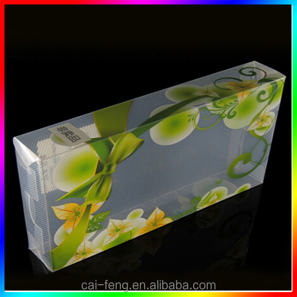 wholesale PVC or PET folding clear packaging box