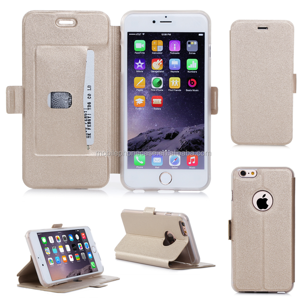 Multi Color 5.5 inch PU+TPU Leather Flip and Stand For iPhone 6 Plus