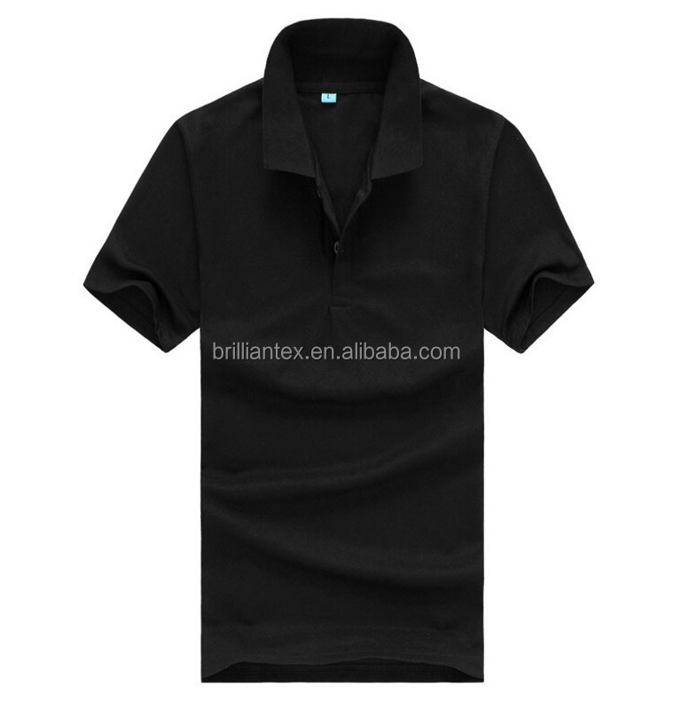 Online Shopping China Custom 100% Cotton Cheap Black Blank Polo Tshirt Wholesale