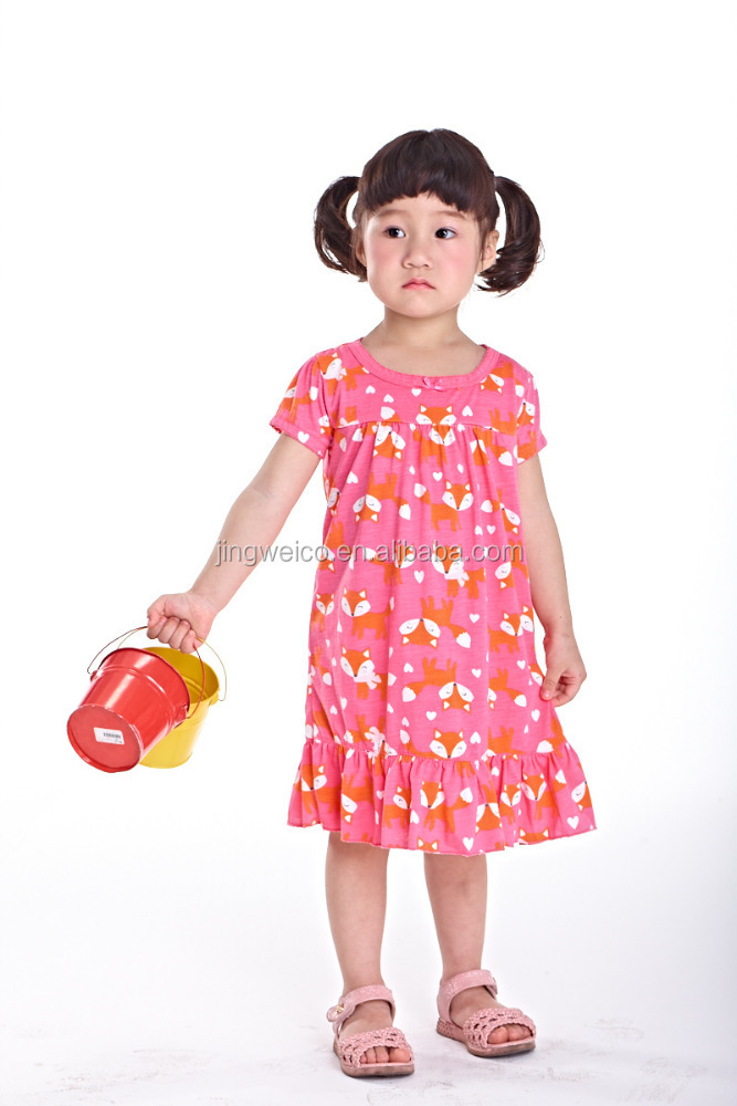 Flower girl casual design dresses fashion baby cotton dress frocks