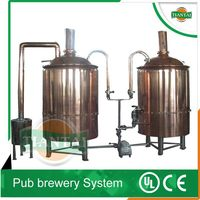 Copper resurant beer brewing equipment