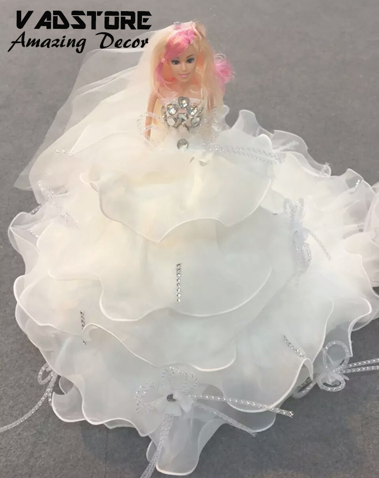 barbie wedding dress collection bride doll barbie wedding white lace dress barbie doll with lace dress