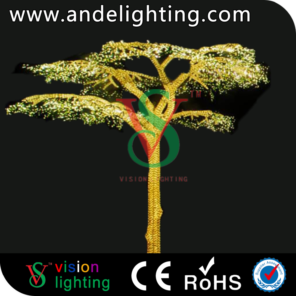 Led weeping willow tree lighting for outdoor lighting project