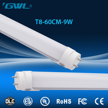 UL CUL approved Wholesale price LED t8 tube light 2 feet 9w 3 years warranty