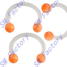 bulk lip rings horseshoe septum orange flexible acrylic eyebrow bars ear tragus earrings circular barbells --SMY44338