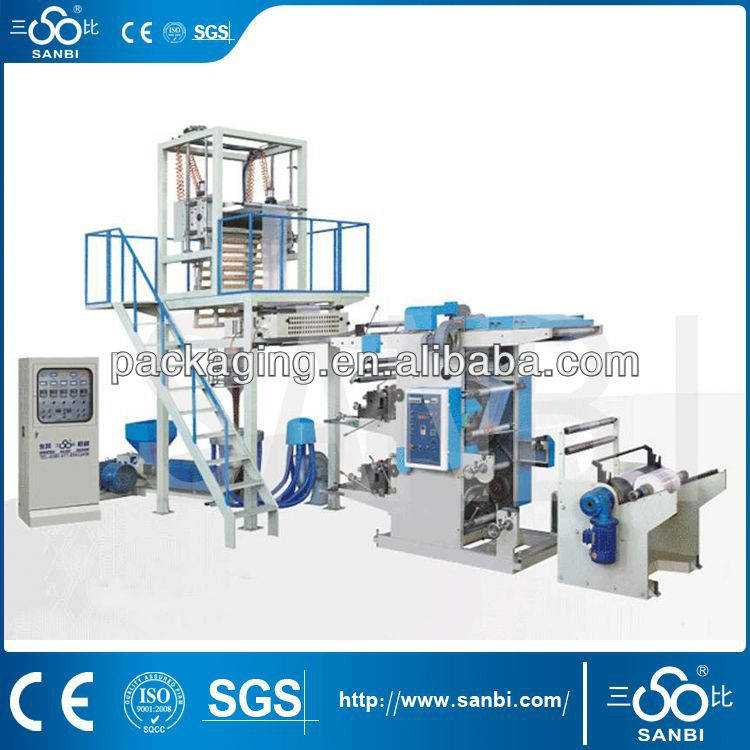 plastic film blowing and printing machine