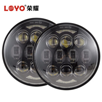 "high low beam 80W 5.75"" 5.75 inch round headlight for H-arley headlight motorcycle led headlight"
