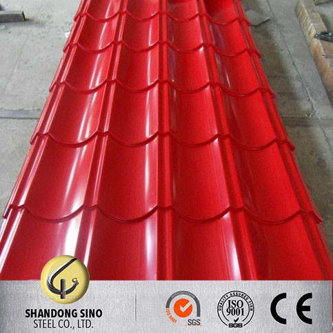 Cheap price CGCC RAL5020 Prepainted zinc blue steel roof sheet