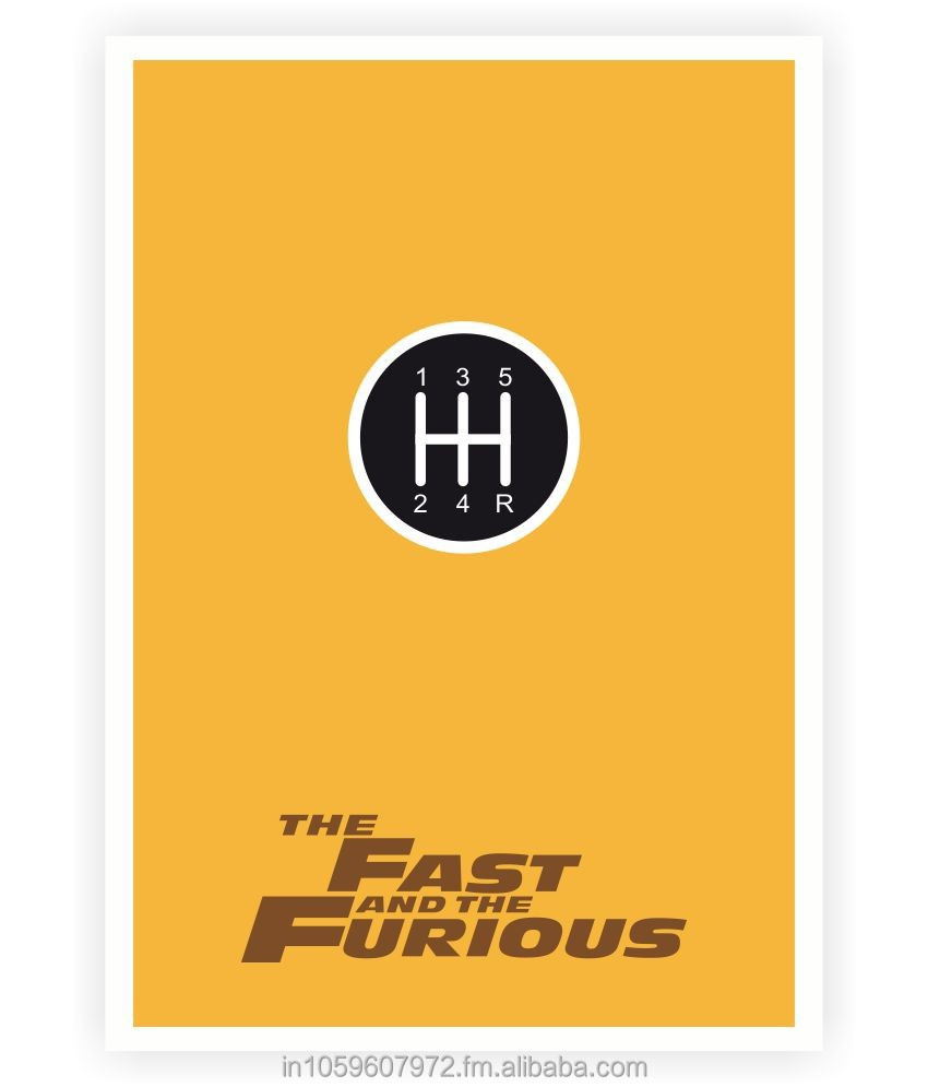 The Fast and the Furious Movie Inspire Quotes Poster
