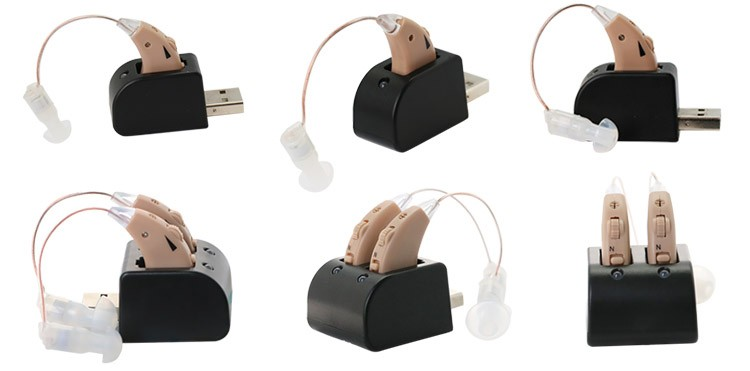Elder care product USB rechargeable amplifier sound hearing aids