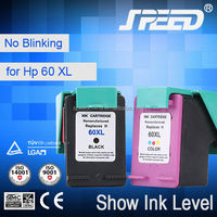 Top Selling Products Recycled Inkjet Cartridges for HP 60 (CC644W) for HP Printer D2500 D2560 with TUV Certifiecate