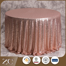 Wholesale new design round wedding sequin table cloth