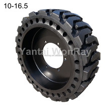 solideal otr tires skid steer tire solid construction tyre 10-16.5 for 317 skid John Deere
