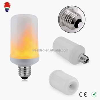 Hot sale 5w ABS Lamp Body Material fake fire led silk flame light