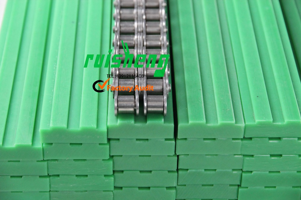 CNC machined plastic chain guide frack roller plastic uhmw-pe linear