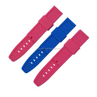 24mm colored elastic silicone rubber strap wrist watch