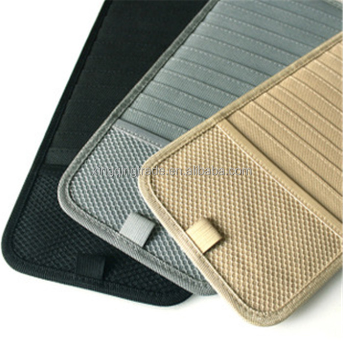 High-grade Sun Visor Storage Bag Car Notes Pouch CD Receive Bag DVD Disk Card Visor Case Folder Pocket