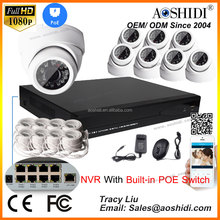 Aoshidi HD 1080P 8CH NVR POE Onvif IP Security Cam Kits, 3mp dome cameras ip66 1080p dvr camera cctv system
