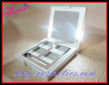 Led light up compact case