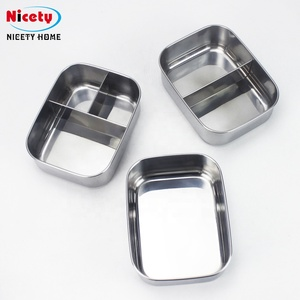 NICETY wholesale stainless steel vacuum hot rectangular thermos special lunch box india for men