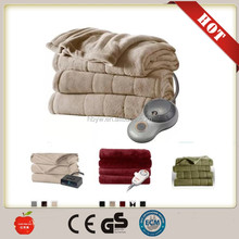 Factory wholesale Polyester/100 cotton massage electric heat blanket