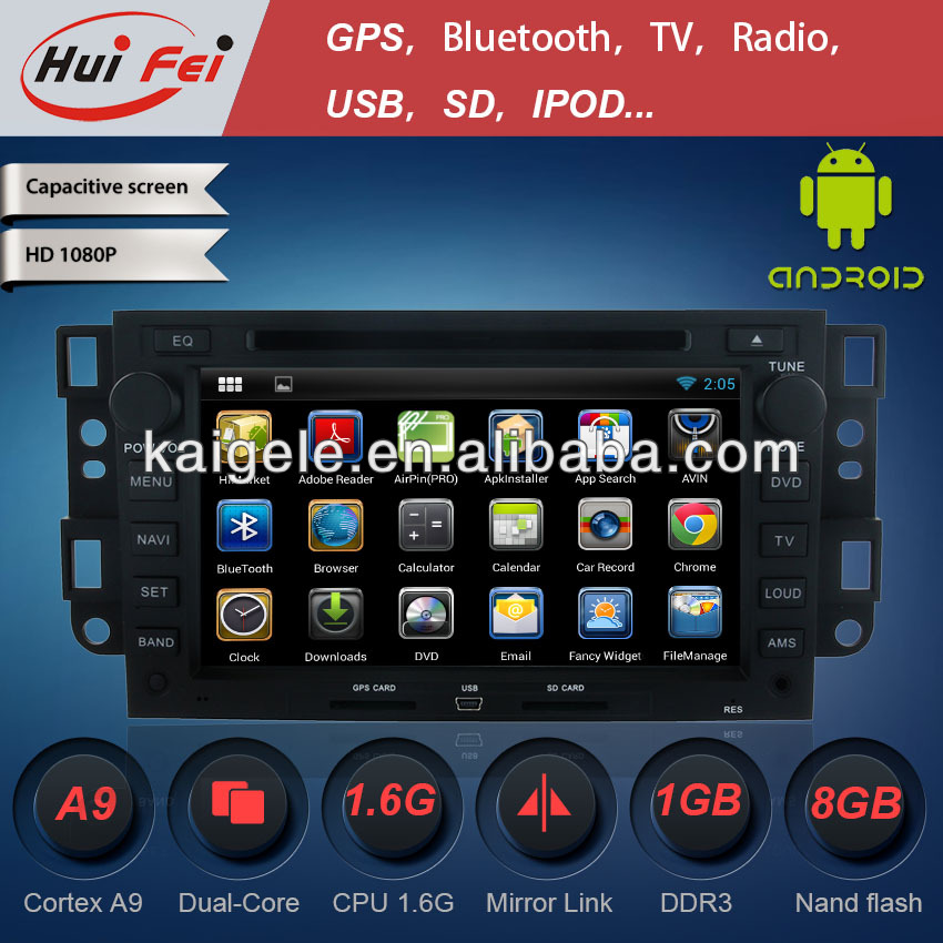 HuiFei for Chevrolet Captiva Android Car DVD 4.2.2 with Mirror Link Capacitive Touch Screen support OBD2